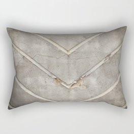 Concrete Chevron Rectangular Pillow