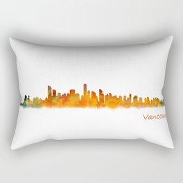 Vancouver Canada City Skyline Hq v01 Rectangular Pillow