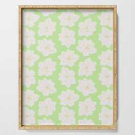Watercolor Magnolias in Key Lime Serving Tray