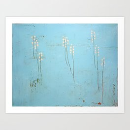 Untitled in Blue (A Moment of Peace)  Art Print