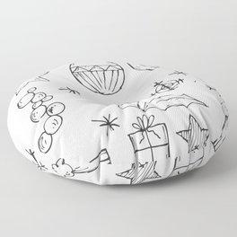 Christrmas Decor PNG Floor Pillow