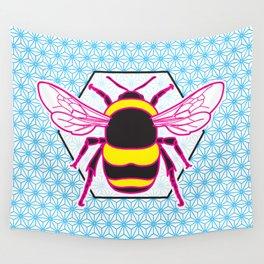 Geometric Bumblebee Wall Tapestry