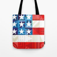 america Tote Bags featuring America by Fimbis
