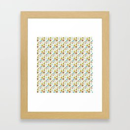 Robot Babies Polka Dots Framed Art Print