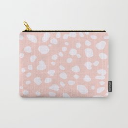 Pink Coral Spotty Dots Carry-All Pouch