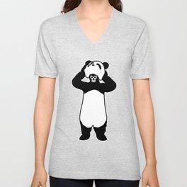 Lucha Panda Unisex V-Neck