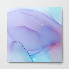Lilac Essense fluid ink abstract painting Metal Print