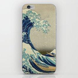 Ukiyo-e, Under the Wave off Kanagawa, Katsushika Hokusai iPhone Skin