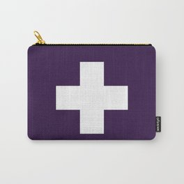 Swiss Cross Purple Carry-All Pouch