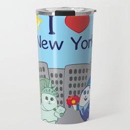 Ernest and Coraline | I love New York Travel Mug