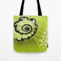 lime green Tote Bags featuring Lime by Shalisa Photography