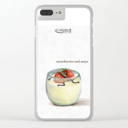 La Cuisine Fusion - Strawberries with Mayo Clear iPhone Case