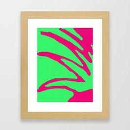 Green Pink Pattern Framed Art Print