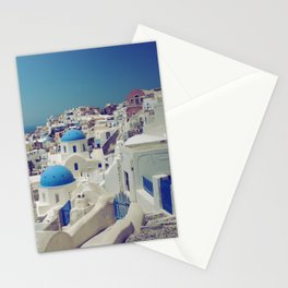 Blue Domes, Oia, Santorini, Greece Stationery Cards