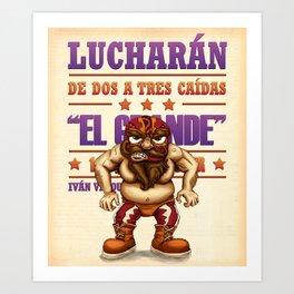 "Luchador ""El grande"" Art Print"