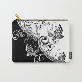 Black and White Butterflies Carry-All Pouch