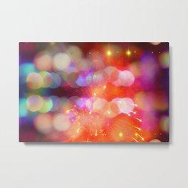 Bokeh Fireworks Metal Print