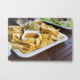 Tortilla chips with salsa Metal Print