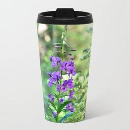 Pretty Purple Flower Travel Mug