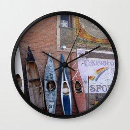 Kayaks in Colorado Wall Clock