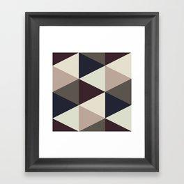 Triangle Sundae Framed Art Print