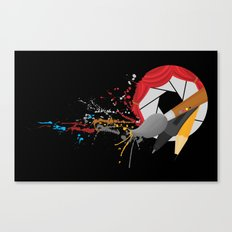 Blender with a Splatter Canvas Print