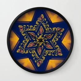 Hanukkah Star of David - 2 Wall Clock