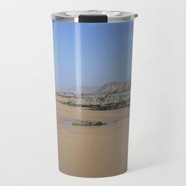 SANDYMOUTH BEACH NORTH CORNWALL FROM MENACHURCH POINT Travel Mug