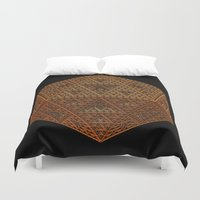 geometry Duvet Covers featuring Geometry by Lyle Hatch
