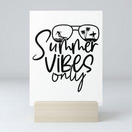Summer Vibes Only Mini Art Print