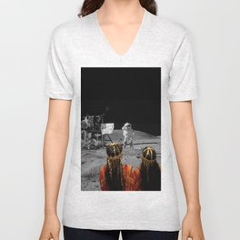 Rgaya and Sabeecha go to the moon Unisex V-Neck