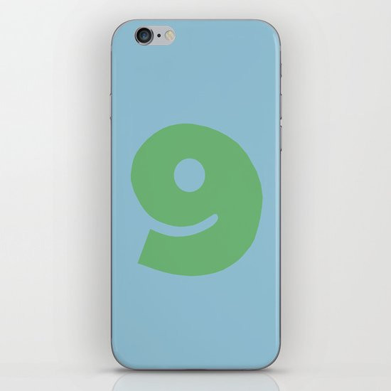 Number 9 iPhone Skin