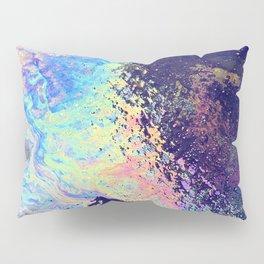 Trippy oil in water rainbow Pillow Sham