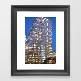 Cement & Glass Framed Art Print