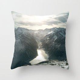 Mountain Panorama Throw Pillow