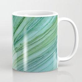 Green Agate Geode Slice Coffee Mug
