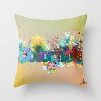 colombia Throw Pillows featuring Colombia by LinaG