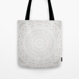 Mandala Soft Gray Tote Bag