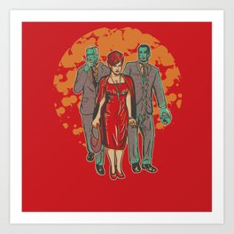 Walking MadMen Art Print
