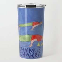 Thymus Chakra Peacock Pose Travel Mug