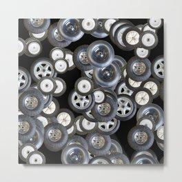 Wheels Tires Pattern Metal Print