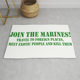 JOIN MARINES Rug