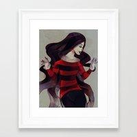 marceline Framed Art Prints featuring Marceline by chuwenjie
