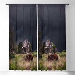 This Old House - Abandoned Home and Cotton Gin in Texas Blackout Curtain