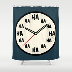 The Laughing Clock Shower Curtain