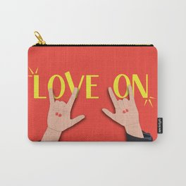 Love On Sign (I Love You) Language Hands - Red and Yellow Colorway Carry-All Pouch