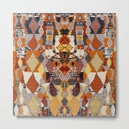 Heritage Moroccan Berber Multicolore Design C20 Metal Print