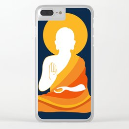 Lord Buddha Illustration Clear iPhone Case
