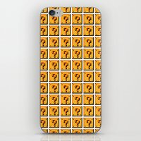mario bros iPhone & iPod Skins featuring Collective Mario Bros. Blocks by Rebekhaart