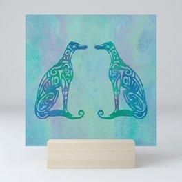 Lottinky Greyhounds - Singing in the Rain Mini Art Print